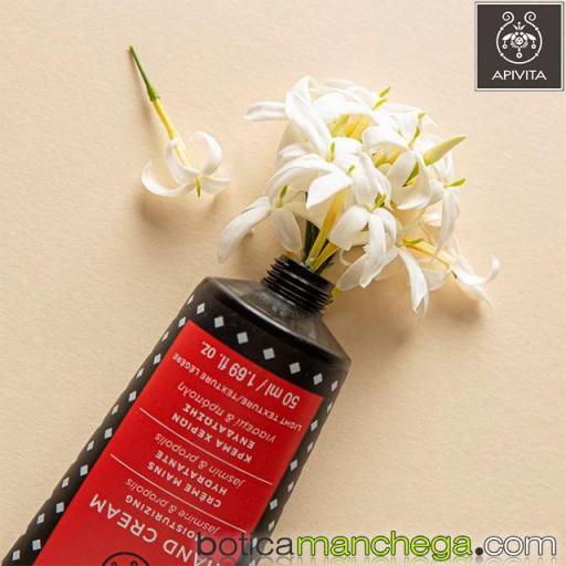 Crema de Manos Hidratante Textura Ligera con Jazmín y Propóleo Apivita, 50 ml [1]