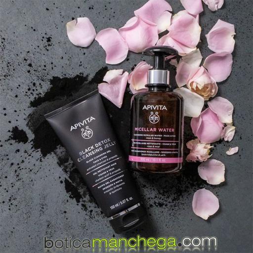 Mini Gel Limpiador Negro Apivita Cleansing Rostro y Ojos con Propóleo y Carbón Activo, 50 ml [3]