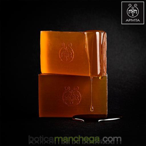 Jabón Natural con Miel y Lavanda- Apivita Natural Soap Honey, 125 g [1]