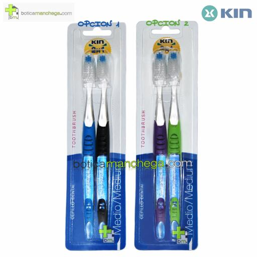 PACK AHORRO Kin 2X1 Cepillo Dental Medio