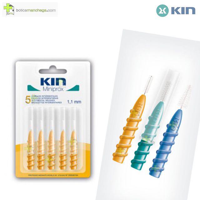 Kin Miniprox 1,1 mm Cepillos Interdentales, 5 uds.