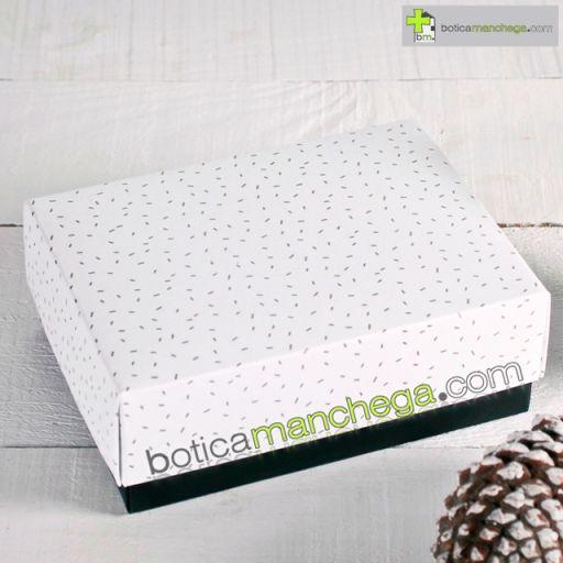 Caja para Regalo Modelo Blanca Confetti Dorado [1]