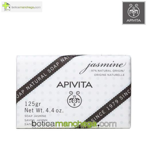 Jabón Natural con Jazmín Apivita - Natural Soap Jasmine, 125g