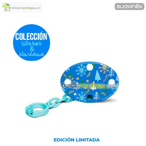 Broche Ovalado Navidad Azul Colección WINTER/NAVIDAD Suavinex +0M