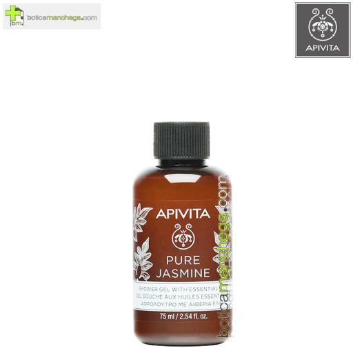 Mini Pure Jasmine Gel de Baño con Aceites Esenciales Apivita, 75 ml