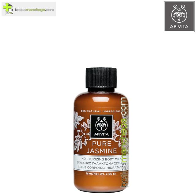 Mini Pure Jasmine Body Milk Hidratante Apivita Leche Corporal Jazmin, 75 ml