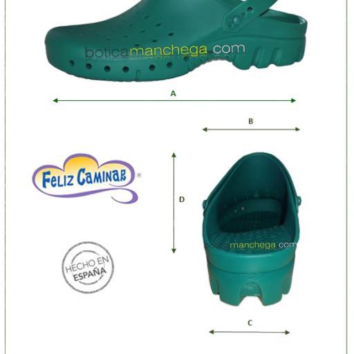 Zuecos Sanitarios Técnicos Verde Feliz Caminar Profesionales [3]