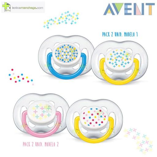 Pack 2 Chupetes 6-18M Philips AVENT Ventilado Tetina Silicona