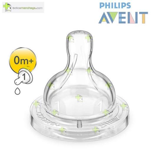 Philips AVENT Pack 2 Tetinas 0M+ Silicona CLASSIC+ Flujo Recién Nacido