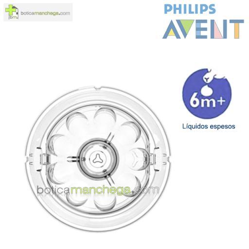 Philips AVENT Tetinas NATURAL 6M+ Líquidos Espesos, Pack 2 uds [1]