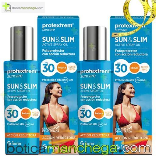 Suncare Pack DUPLO Protextrem Sun & Slim Aceite Seco FPS 30 Acción Reafirmante y Reductora, 2 x 200 ml
