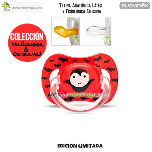 Chupete DISFRACES/CARNAVAL/HALLOWEEN Suavinex Modelo Rojo Draco, Tetina Anatómica Látex y Fisiológica Silicona
