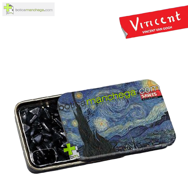 "Sawes Regaliz Sin Azúcar Colección Van Gogh. Modelo: ""La nuit étoilée"", Art Collection"