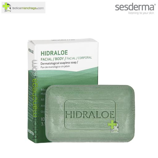 Sesderma Hidraloe Pan Dermatológico Facial/Corporal sin Jabón, 100 gr