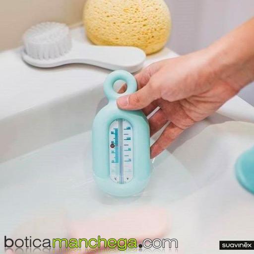 Termómetro Burbujas Baño +0M Suavinex Azul Colección Liberty  [1]