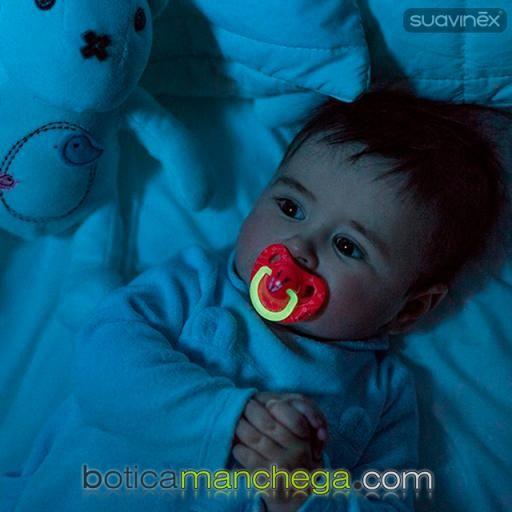 Suavinex Chupete 0-6M Night & Day Anatómico Látex con Anilla Luminiscente, Mod. Rosa / Coral Ciervo [1]