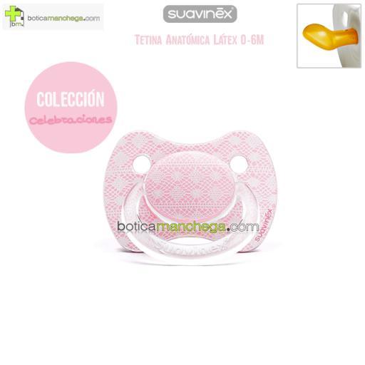 Suavinex Chupete CELEBRACIÓN 0-6M Rosa Tetina Anatómica Látex