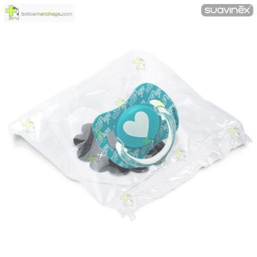 Suavinex Chupete 0-6M ó +6M SUPER PAPÁ Anatómico Látex Mod. Corazón [1]