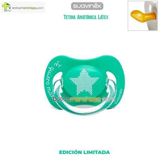Chupete TE QUIERO MAMÁ Suavinex Tetina Anatómica Látex Mod. Estrella