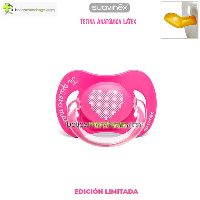 Chupete TE QUIERO MAMÁ Suavinex Tetina Anatómica Látex Mod. Corazón