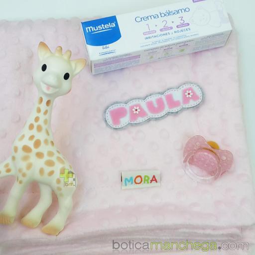Canastilla SWEET DREAMS Personalizada Botica Manchega, Básicos Recién Nacido - Tonos Azules, Rosas o Neutros [1]