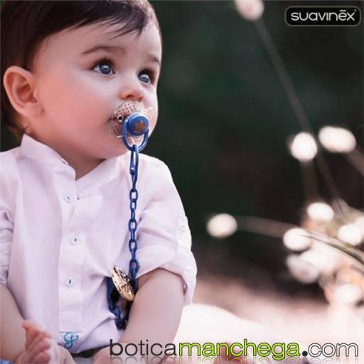 Broche Pinza PREMIUM +0M Modelo Little Star Azul, Colección Haute Couture Icons Suavinex  [1]