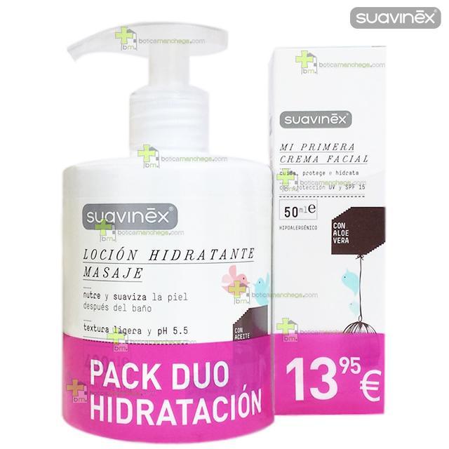 Suavinex PACK AHORRO DÚO Hidratación (Loción Hidratante Masaje + Crema Facial SPF15)