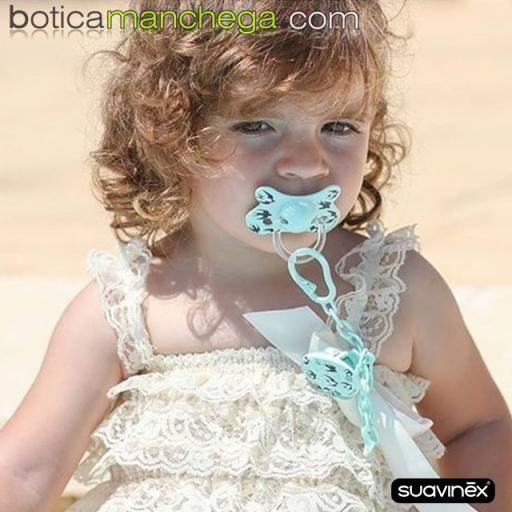 Suavinex Biberón Silicona 150ml +0M Tetina Redonda 3 Posiciones- Nueva Colección TOP TRENDS: Swallows Mint [2]