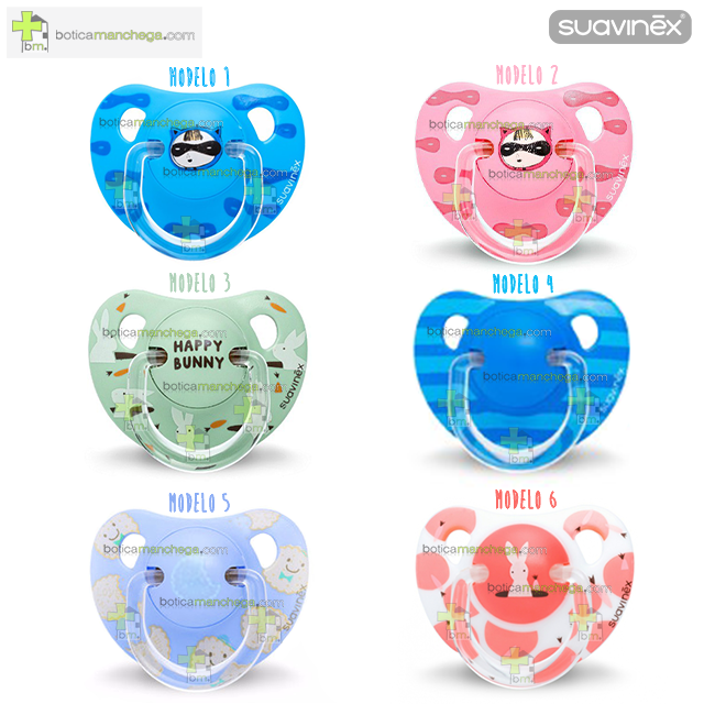 Suavinex Chupete +12M Anatómico Silicona - Colección Lovely Biscuits /Happy Bunny /Petit Secret
