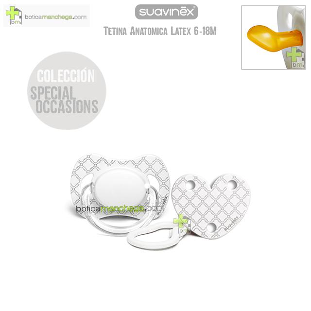 Pack Suavinex Chupete + Broche Clip Special Occasions Tetina Anatómica Látex 6-18M