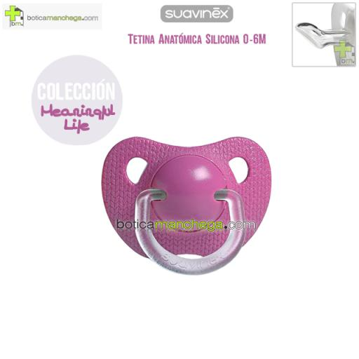 Suavinex Chupete 0-6M Evolution Lila Tetina Anatómica Silicona Colección Meaningful Life