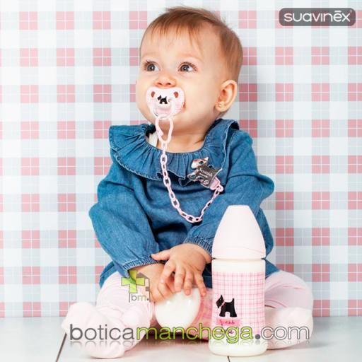 Suavinex Broche Pinza Jewel SCOTTISH Rosa +0M [1]
