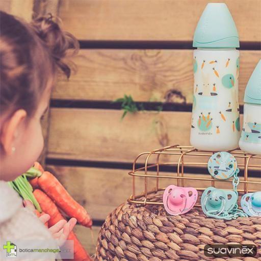 Broche Pinza Redondo +0M Suavinex, Colección Happy Bunny Mod. Verde [2]