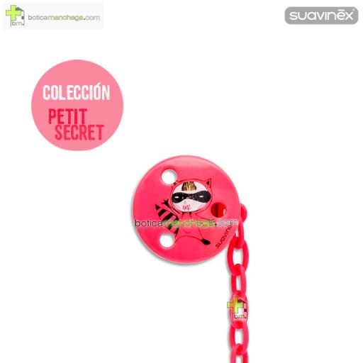 Suavinex Broche Pinza Clip Redondo +0M - Colección Petit Secret