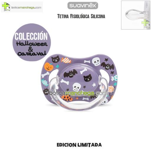 Chupete DISFRACES/CARNAVAL/HALLOWEEN Suavinex Modelo Lila Caramelos, Tetina Fisiológica Silicona