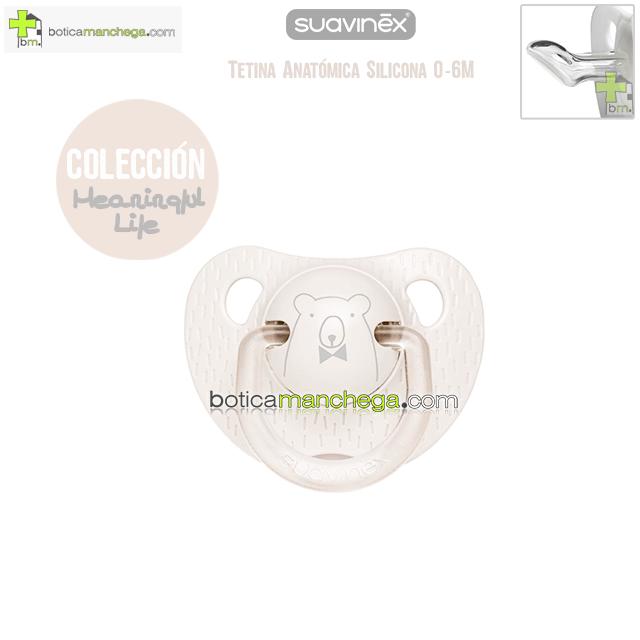Chupete 0-6M Suavinex Evolution Tetina Anatómica Silicona Colección Meaningful Life Modelo Oso