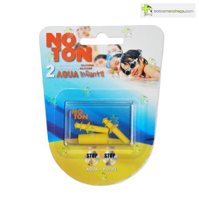 Noton Protectores para Oidos Infantil Tapones Silicona Aqua 2 uds.