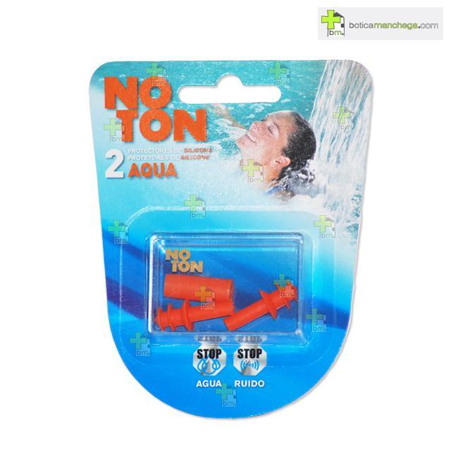 Noton Protectores para Oidos Tapones Silicona Aqua Adulto 2uds.