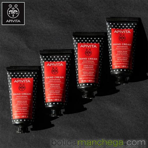 Crema de Manos Hidratante Textura Ligera con Jazmín y Propóleo Apivita, 50 ml [2]