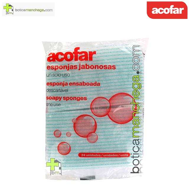 Esponjas jabonosas Acofar, 24 unidades
