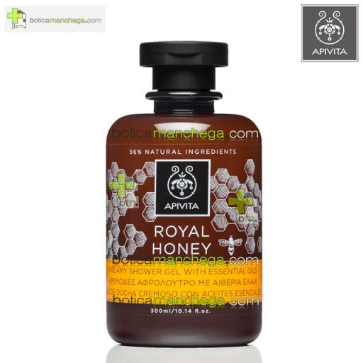 Royal Honey Gel Cremoso de Ducha con Aceites Esenciales Shower Gel Creamy Apivita, 200 ml