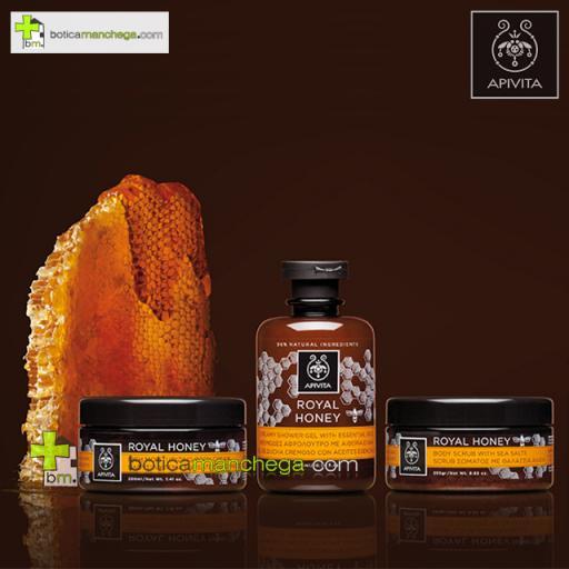 Royal Honey Gel Cremoso de Ducha con Aceites Esenciales Shower Gel Creamy Apivita, 200 ml [1]