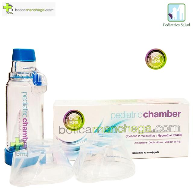 Cámara de Inhalación Pediatric Chamber 175 ml con 2 mascarillas: Neonato e Infantil
