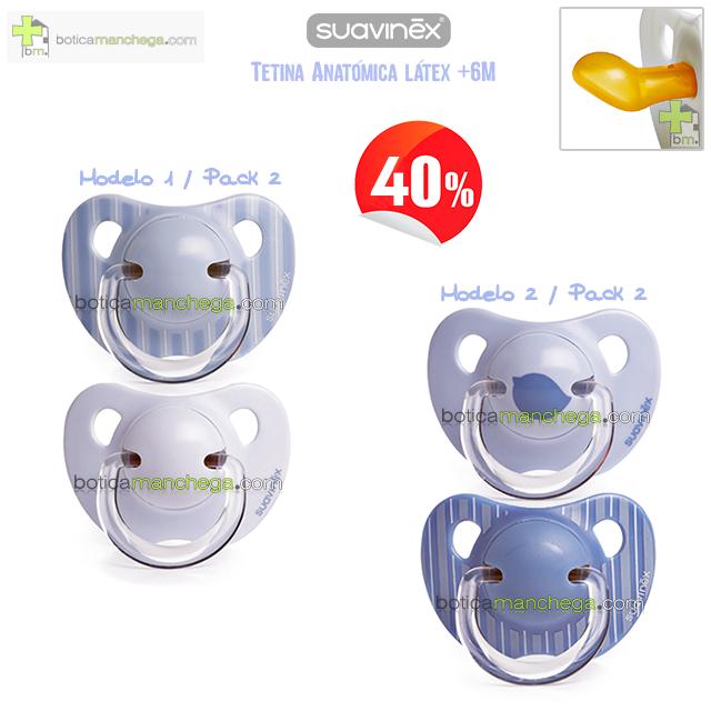 Suavinex Chupete Evolution +6M LIBERTY Línea Bleu Pack 2 unid. -40% DTO.