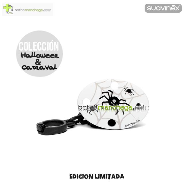 Broche Ovalado Blanco/Negro Arañas Colección DISFRACES/CARNAVAL/HALLOWEEN Suavinex