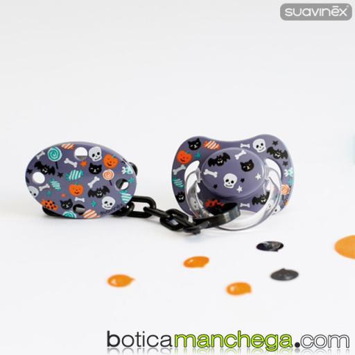Chupete DISFRACES/CARNAVAL/HALLOWEEN Suavinex Modelo Lila Caramelos, Tetina Fisiológica Silicona [1]