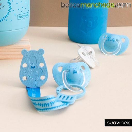 Chupete 6-18M Suavinex Evolution Tetina Anatómica Silicona Colección Meaningful Life Modelo Azul Dear Child [1]
