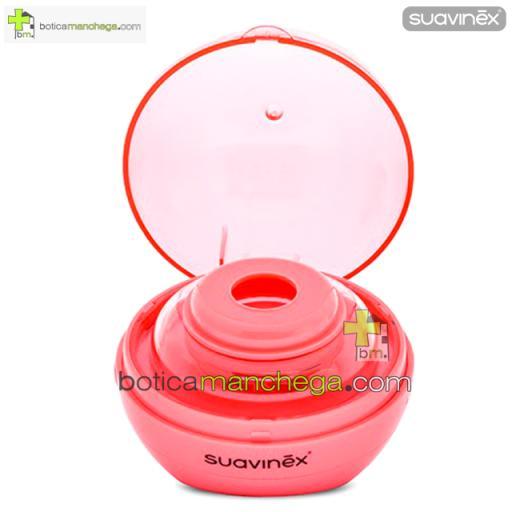 Suavinex Duccio Esterilizador de Chupetes Portátil, color Rosa [1]