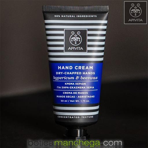 Crema para Manos Secas - Agrietadas Textura Concentrada Apivita con Hipérico y Cera de Abejas, 50 ml [2]