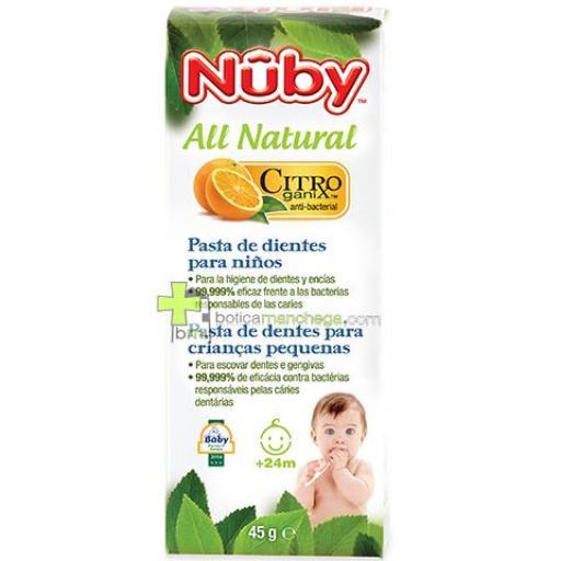 Nûby Pasta dientes niños +24M Citroganix™, 45 g